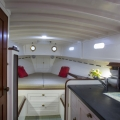 Interiors onboard Vim in Newport RI.