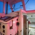 Interiors onboard Vim in Newport RI.