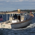 Vim leaving the Newport boat show, Newport RI.
