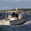 Vim leaving the Newport boat show, Newport RI.