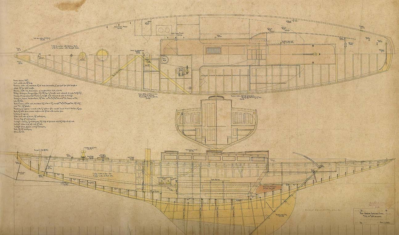 Plans:Courtesy Hart Nautical Collection, MIT Museum