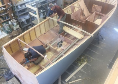 Herreshoff-inspired 24' motor launch by Artisan Boatworks