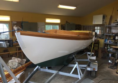 At Artisan Boatworks: Herreshoff 1928 12-1/2 classic sailing yacht