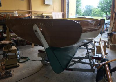 At Artisan Boatworks: Herreshoff 1928 12-1/2 classic sailing yacht